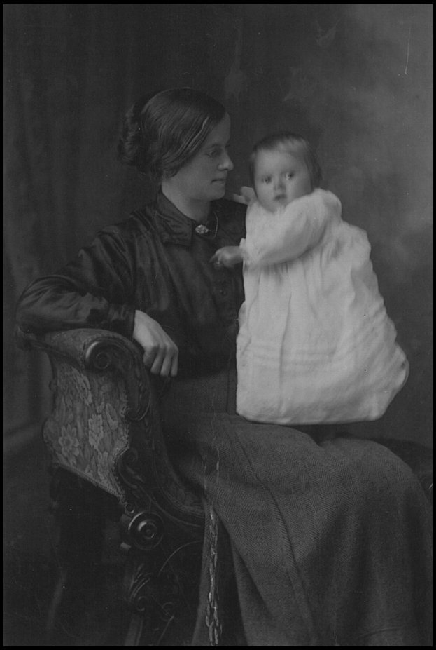 Margaret with baby Stanley